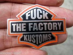 Fuck FACTORY KUSTOMS PIN WEST COAST CHOPPERS INDIAN LARRY JESSE JAMES BILLY LANE
