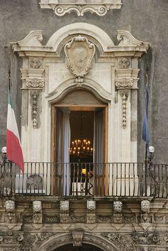 Catania, Sicily, Italy - Palazzo dei Chierici-detail #catania #sicilia #sicily