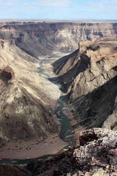 Fish River Canyon in Namibia, the second largest canyon in the world.