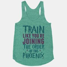 Train like you're joining the Order of the Phoenix. You've got a very important mission and the wizard world depends on you. Harry, Ron, Hermione, Sirius and all the rest need your help to defeat... | Beautiful Designs on Graphic Tees, Tanks and Long Sleeve Shirts with New Items Every Day. Satisfaction Guaranteed. Easy Returns.