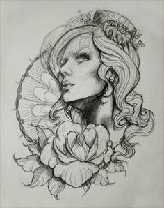 #girl#rose