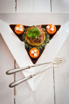 A plate of pure indulgence crafted by Richard Poynton at Cleopatra Mountain Farmhouse, Drakensberg, KwaZuluNatal, South Africa