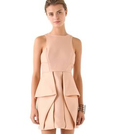 Nude origami dress