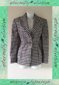 VTG Designer UMBERTO GINOCCHIETTI Fitted Tweed Wool Blazer Jacket Womens Size 12   03.20