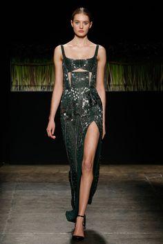 Avant Gard Metallic Evening Gown by J. Mendel, Look #45
