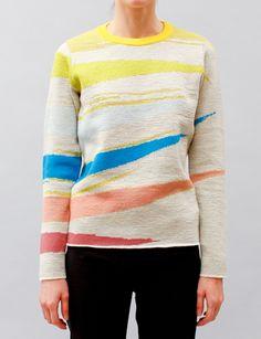 Tsumori Chisato Prism Jacquard Knit Pullover- Multi