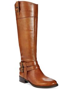 LOVE LOVE LOVE THESE!!!! INC International Concepts Fahnee Wide Calf Riding Boots in VINTAGE COGNAC