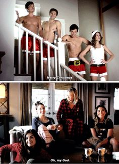 Immagine di pretty little liars, pll, and christmas Caleb Pretty Little Liars, Prety Little Liars, Pretty Little Liars Quotes, Pretty Little Liars Seasons, Hanna Y Caleb, Hanna Pll, Ezra And Aria, Pll Memes, Pll Quotes