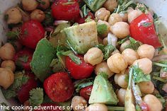 Garbanzo, Tomato, and Cilantro Salad with Lime and Chile Dressing : The Cooking Adventures of Chef Paz