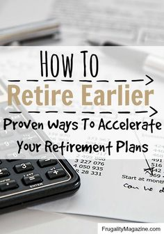 Wondering how to retire earlier? These budgeting and money saving tips will help you gain control of your finances and retire early.