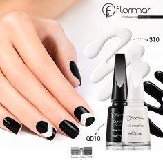 Dale armonía a tu manicure con este #NailArt en blanco y negro. ¡Será el toque chic para tu look!