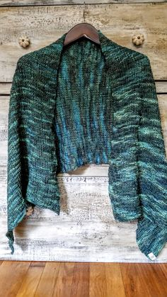 Handmade Hand Knit Blue Green Long Scarf Grey Gray Shawl Gifts for Her Teal Multicolored Wrap Pashmina Shawl Superwash Fine Highland Wool