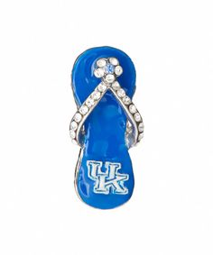 Look at this Kentucky Wildcats Crystal Flip-Flop Pendant on #zulily today!