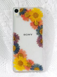 Annys workshop手作押花手機保護殼,適用於Sony Xperia Z3 plus, pressed flower phone case