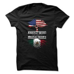 American Grown With Mexican Roots Great T-Shirts, Hoodies. ADD TO CART ==►…