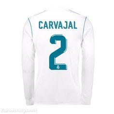 19 Real Madrid 2017-18 Home Carvajal 2 Long Sleeved Football Shirt Soccer  Jersey Kit 90c7d1d32e8f9