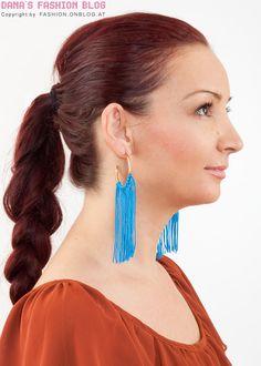 DIY for cute fringe earrings