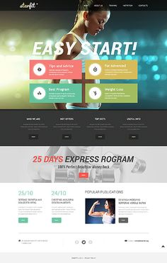 Template 49639 - Fitness Responsive Bootstrap Website Template