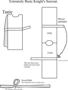 knight tunic pattern - Google Search