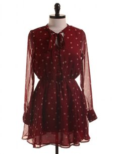 NWT Dotted Red Dress by Lucca Couture - Size S - $58.95 on LikeTwice.com