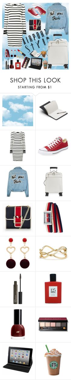 """""""Airport style"""" by verlacomplacencia ❤ liked on Polyvore featuring Bellroy, Theory, Converse, Serapian, Tommy Hilfiger, Gucci, David Yurman, NYX, Comme des Garçons and Bobbi Brown Cosmetics"""