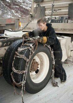 Lisa Kelly: Ice Road Trucker(s) Rv Truck, Truck Tyres, Big Rig Trucks, Semi Trucks, Cool Trucks, Truck Drivers, Trucks And Girls, Car Girls, Diesel Trucks