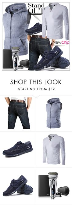 """""""NEWCHIC#16"""" by sabahetasaric ❤ liked on Polyvore featuring Braun, men's fashion and menswear"""