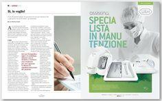 """Nos encanta ver nuestra campaña sobre """"especialistas en mantenimiento"""", diseñada para W&H Italia, publicada en la revista italiana Dentista Moderno. ¡Esperamos que os guste! #diseñográfico #valencia #dentistas #dental #marketing #publicidad"""
