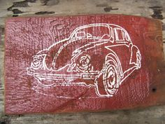 vw bug Reclaimed wood wall decor art sign vw by InsideOutDesignsbyJW