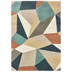 Solo Rugs Incorporating a medley of geometric motifs, in palettes ranging from earthy to vivacious, the rugs in our Geometric collection bring a sense of energy as well as plush texture to any room. A neutral color palette ensures these rugs can be seamlessly integrated into any existing décor. Designed with resilience against everyday wear-and-tear, these rugs are kid and pet friendly and perfect for high traffic areas of your home such as living room, dining room, kitchen, and hallways. Rug Si Color Beige, Color Azul, Textured Yarn, Orange Area Rug, Mosaic Patterns, Geometric Rug, Muted Colors, Blue Orange, Blue Green