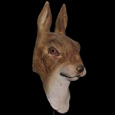 Paper Mache Mask of Giant Rabbit