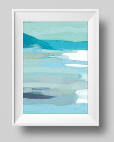 Para imprimir el arte abstracto pintura playa descarga