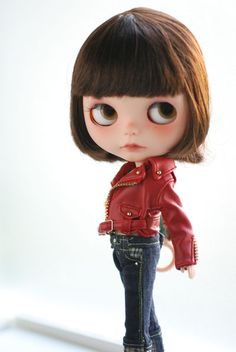 Mika | Thanks BopAllen for this lovely red leather jacket! 包… | Flickr