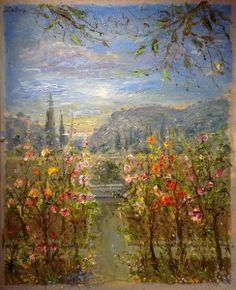 Bruno Zupan Morning Light, Chopin Museum, Valldemossa, Mallorca Original Oil on Canvas