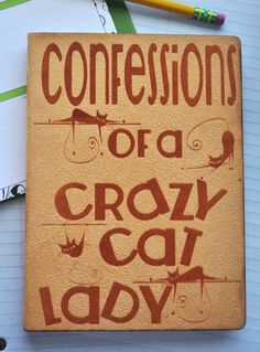 Confessions of a Crazy Cat Lady -  Personal Journal,  Blank Book, Journal