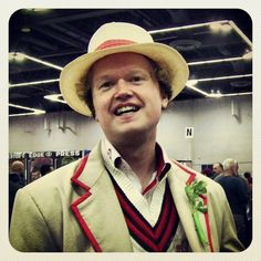 This Fifth Doctor cosplayer at #RCCC told me it's suprisingly hard to find fake celery. #DoctorWho #cosplay #Portland #PDX #Oregon #RCCC13 #RoseCityComicCon #cons #comiccon #FifthDoctor