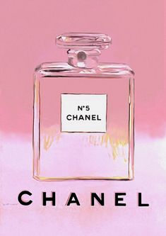 Chanel No 5 Andy Warhol Print Poster - Pop Art, French, Vintage, Art Deco Pink Bottle, Bottle Art, Pink Perfume, Perfume Bottles, A4 Poster, Poster Prints, Art Prints, Chanel Poster, Pop Art Decor