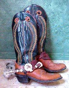 Cowboy Spurs, Cowboy Gear, Cowboy Western, Western Style, Western Boots, Cowboy Boots, Buckaroo Boots, Fashion Boots, Men's Fashion