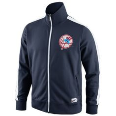 Nike New York Yankees Cooperstown Collection N98 Full Zip Track Jacket - Navy Blue