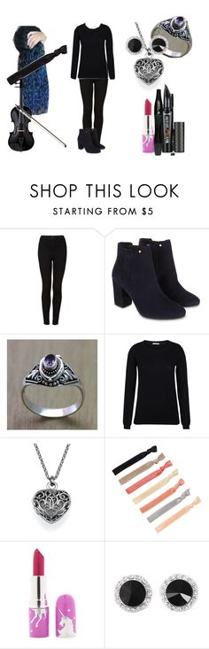 """Allison Harley Quinzel Playing ""Wind"" For  Recital"" by shestheman01 on Polyvore featuring Topshop, Monsoon, Ultimate, NOVICA, Lime Crime, Lancôme and Benefit"