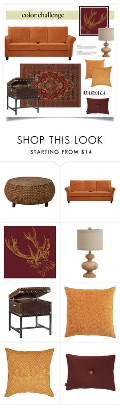 """Burgundy & Pumpkin Decor"" by grrr8style ❤ liked on Polyvore featuring interior, interiors, interior design, home, home decor, interior decorating, Dot & Bo, Home Decorators Collection, Pier 1 Imports and LIFE by Muriel Brandolini"