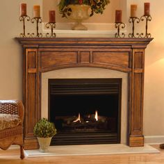 Have to have it. Pearl Mantels Vance Wood Fireplace Mantel Surround - $686 @hayneedle