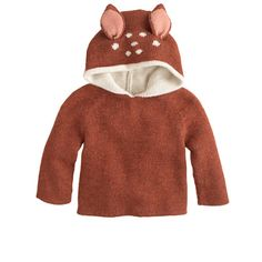 Oh my goodness, the cuteness! JCrew Baby Oeuf bambi reversible hoodie.