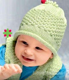Схема вязание спицами модели и схемы шапка для малыша со жгутиком