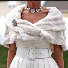 Wedding fur wrap