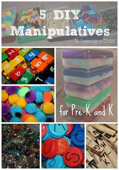 Train Up a Child: 5 DIY Manipulatives for Preschool and Kindergarten