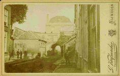 De Hezelpoort, gezien vanuit de Hezelstraat. Nijmegen, 1875