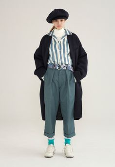 """Japanese label Neon Sign presents its Fall/Winter 2016 """"Ghetto Child"""" collection, which channels designer Asuka Hayashi's beatnik sensibilities. China Fashion, Fashion Art, Fashion Outfits, Womens Fashion, Fashion Design, Fashion Trends, Rock Style Men, Oversized Coat, Foto Pose"""
