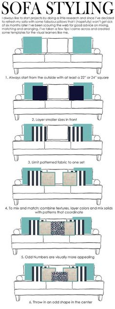 Great tips for pillow arranging!