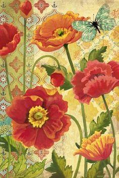 """Poppy Garden Vert"" By Jennifer Brinley."
